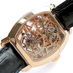 Ремонт часов Vacheron Constantin Gold Tonneau Skeletonized Tourbillon
